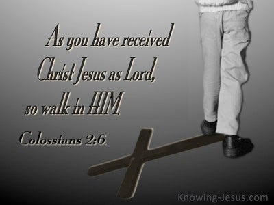 Colossians 2:6 So Walk In Him (gray)